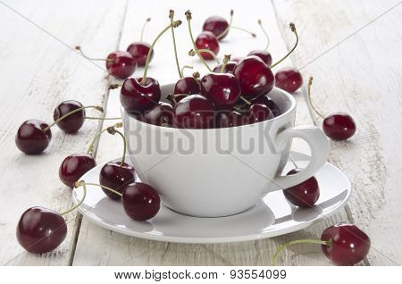 Sweet Cherries In A Cup