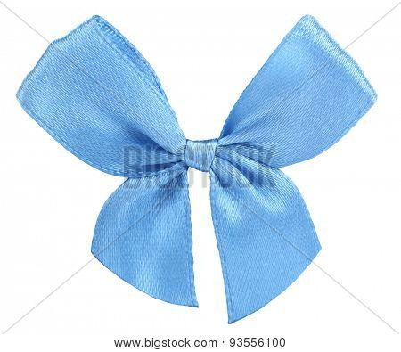 Blue ribbon bow tie