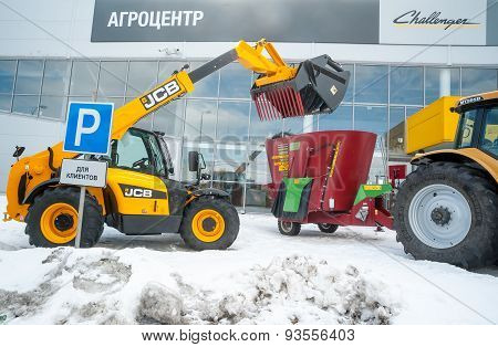 Agricultural wheel loader. Tyumen. Russia