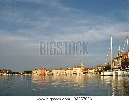 Croatian city Stari Grad in the Mediterranean