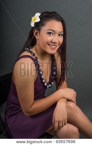 Beautiful Smiling Pacific Islander Teenager
