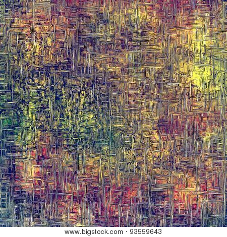 Old grunge textured background. With different color patterns: yellow (beige); green; blue; purple (violet)