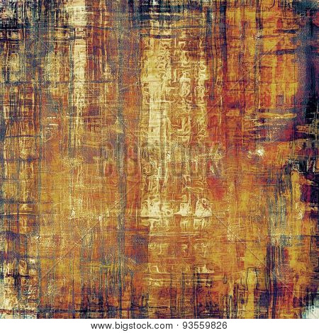 Grunge stained texture, distressed background with space for text or image. With different color patterns: yellow (beige); brown; red (orange); purple (violet)