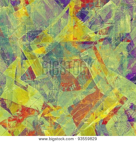 Grunge background with vintage and retro design elements. With different color patterns: yellow (beige); red (orange); green; purple (violet)