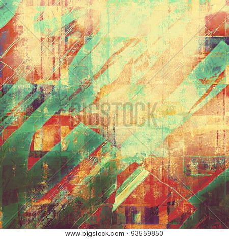 Old abstract grunge background for creative designed textures. With different color patterns: yellow (beige); red (orange); green; purple (violet)