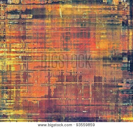 Grunge colorful background. With different color patterns: yellow (beige); brown; purple (violet); red (orange)