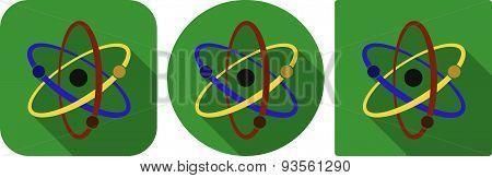 Icon Of Atom In Flat Design