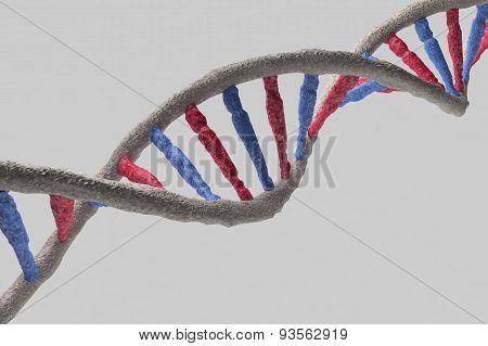 Model Of Dna Structure. 3D Render Image.