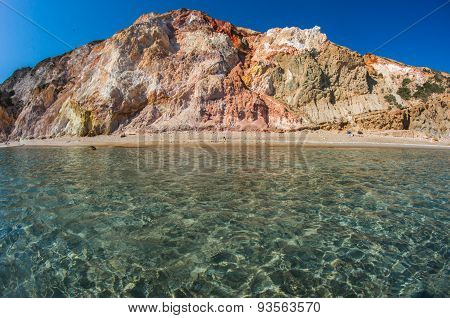 Natural Colors Of Firiplaka Beach, Milos, Greece