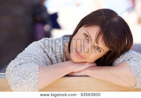 Attractive Older Woman Relaxing