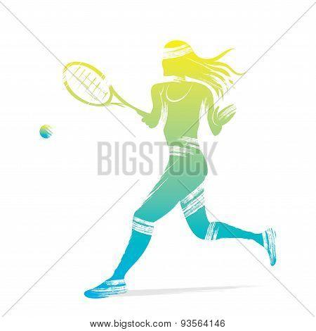 tennis women player design