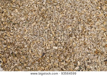scattered wood sawdust