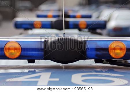 Flashing Police Car