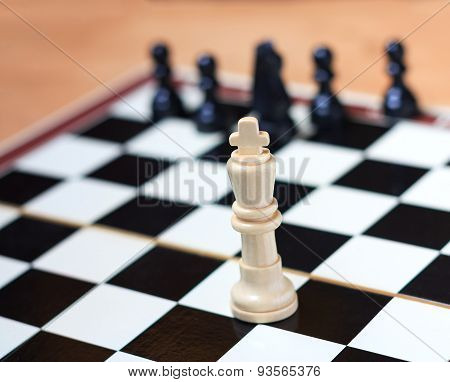 King on the chessboard and his team