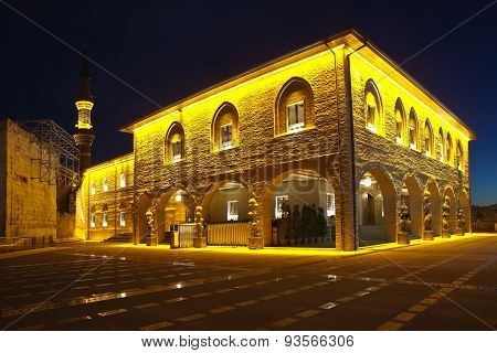 Haji Bayram Mosque at night. Ankara. Turkey.