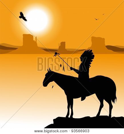Native American silhouette