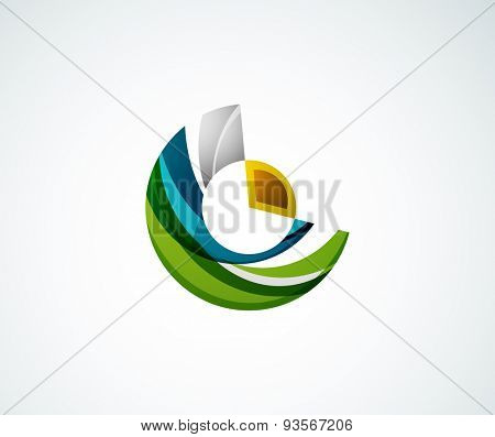 Statistics company logo design. Vector illustration. Economy business icon