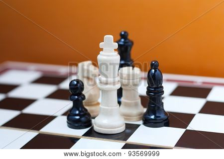 Group of chess pieces