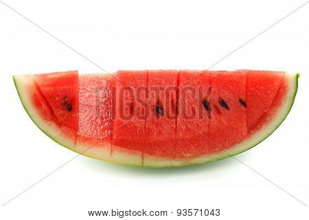 Watermelon Split Slide Yummy Fresh Summer Fruit Sweet Dessert