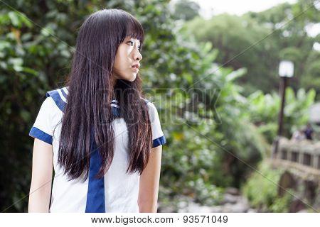 Asian Senior High Schoolgirl