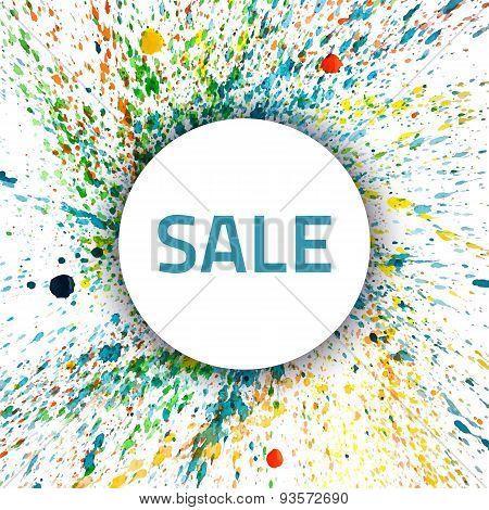Vector Watercolor Splash Sale