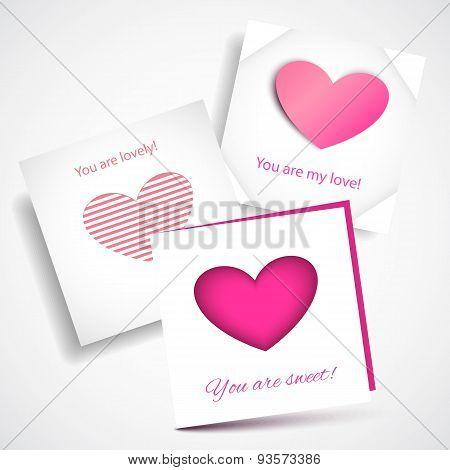 Vector Card Love Pink