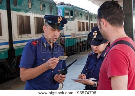 Activities Police Station; Check Supporting Documents To A Traveler.
