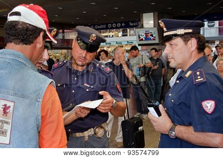 Activities Police Station; Check Supporting Documents To An Immigrant.