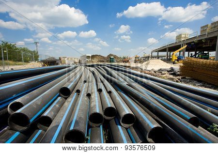 Pvc Pipes Ar Building Site