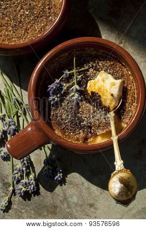 Creme brulee with lavender