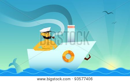 Sailor in the boat