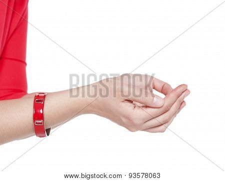 Two Hands Open Palm Gesture Isolated