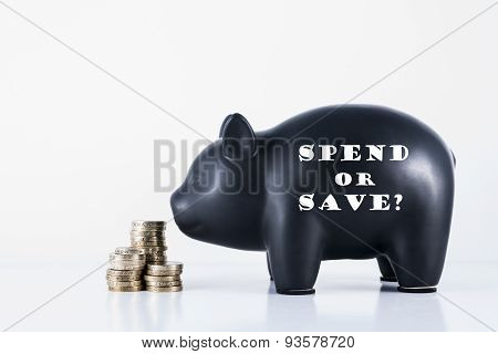 Piggy Bank Spend Or Save?