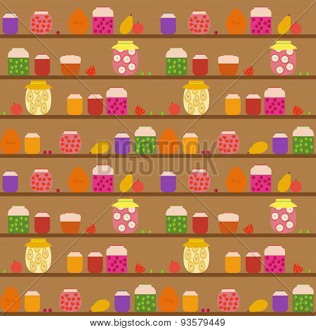 Seamless pattern with banks with different jam