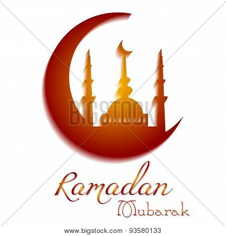 Card For Congratulations With Beginning Of Fasting Month Of Ramadan