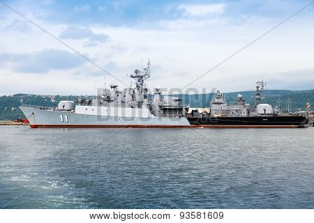 Frigate Smely Of Bulgarian Navy In Varna Naval Base
