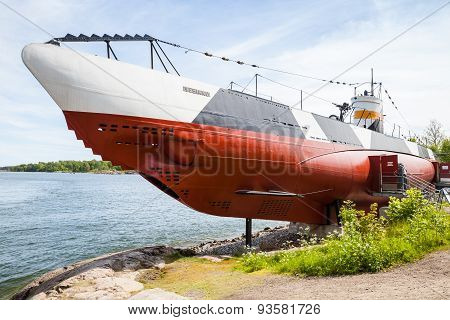 Historical Submarine Vesikko From Wwii Period, Helsinki