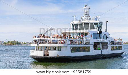 Passenger Ship Suomenlinna Ii With Many Tourists