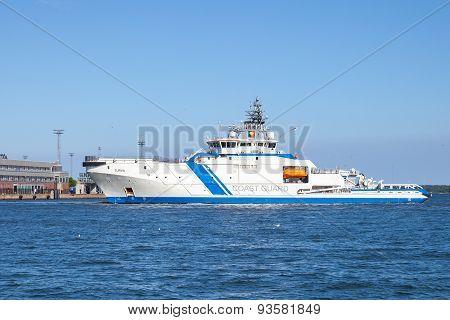 Finnish Offshore Patrol Ship Turva In Helsinki