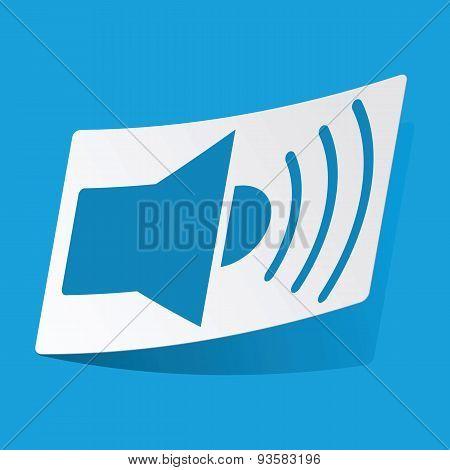 Loudspeaker sticker