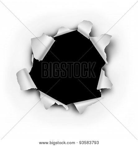 Paper Burst Hole