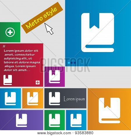 Bookmark Icon Sign. Buttons. Modern Interface Website Buttons With Cursor Pointer. Vector