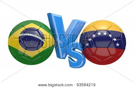 Football competition, national teams Brazil vs Venezuela