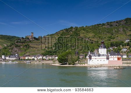 Panorama Of The Rhine Valley Near Kaub