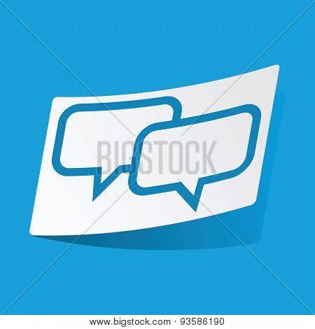 Chat sticker