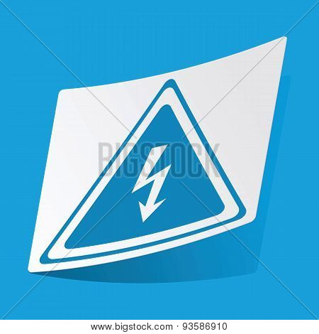 High voltage sticker