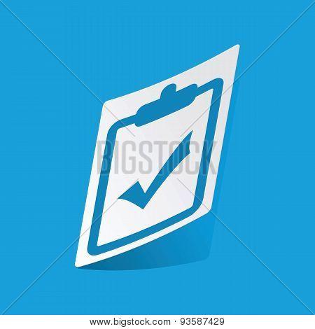 Clipboard YES sticker