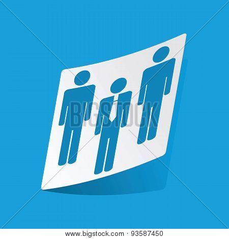 Work group sticker