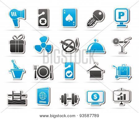 Hotel and motel services icons 2