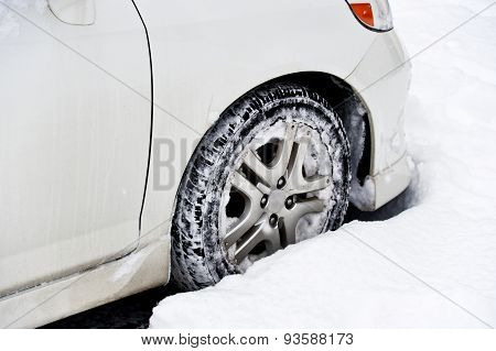 Car Stuck In Snow
